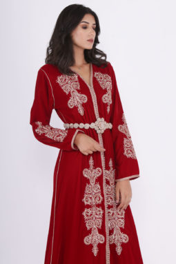 Caftan Velours Rouge